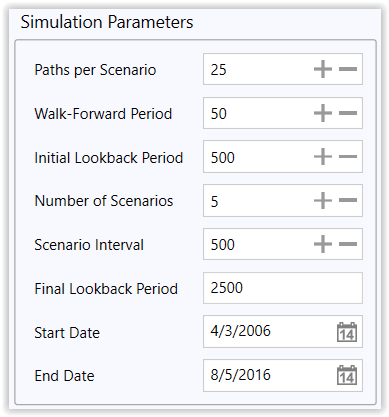 Figure 10. Multi-Scenario Simulation Parameters